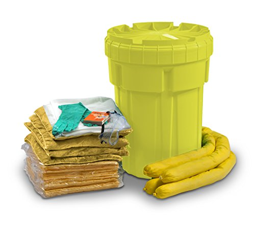30 Gallon Spill Kit - ESP SK-H30 56 Piece 30 Gallons Hazmat Absorbent Ecofriendly Spill Kit, 25 Gallons Absorbency, Yellow