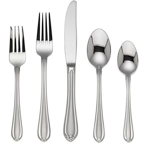 Gorham 6017354 Melon Bud Frosted Flatware 5 Piece Place Set (Frosted Place Bud Melon)