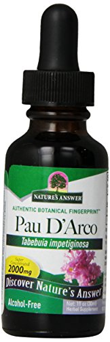 Nature's Answer Alcohol-Free Pau D'Arco Inner Bark, 1-Fluid (Inner Bark Extract)