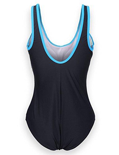 rettangolare Schwimmanzug Aido da illuminato bagno Colore Blu Nger Eu50 Eu36 Costume Login da Donna Colori q4W8w4U1