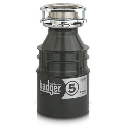 Insinkerator Badger 5, 1/2 HP Household Food Waste Disposer (Renewed)
