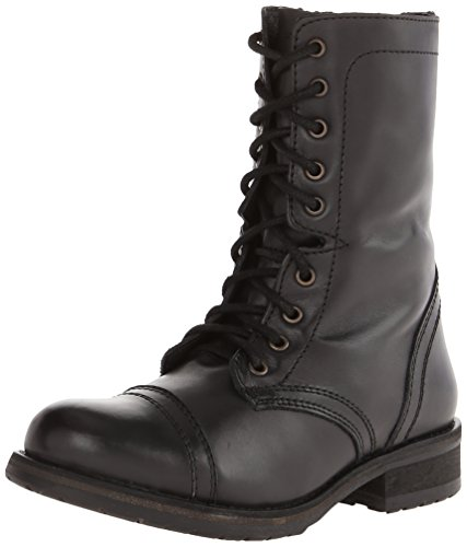 Steve Madden Troopa Boot 2.0 Combate Black Leather