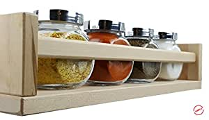 IKEA BEKVAM Spice Rack (1) And RAJTAN Glass Spice Jars (4) For Kitchen, Dining Room, Pantry, Spice Cupboard