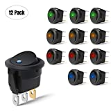 Nilight 90013L 12PCS Round Toggle LED Switch 12V