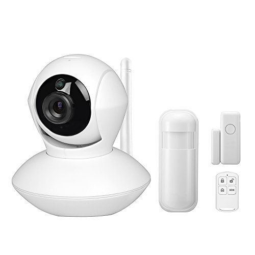 Wireless Home Security Alarm System With 720P IP Camera Complete Smart WiFi DIY Kit, Motion Detection, Door/window Contact Sensor, Remote and Smartphone Controlled, Easy APP by heneng