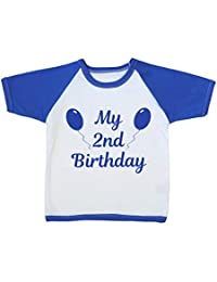 BabyPrem Baby Toddler T Shirt Top My Birthday Boys Girls Cotton Infant Clothes