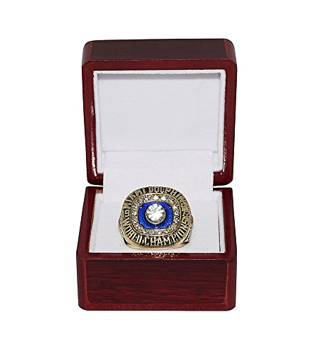 - MIAMI DOLPHINS (Jake Scott) 1972 SUPER BOWL VII WORLD CHAMPIONS (17-0 Perfect Season) Vintage Rare & Collectible High-Quality Replica NFL Football Gold Championship Ring with Cherrywood Display Box