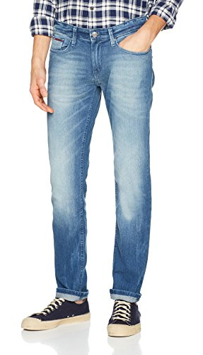Tommy_Jeans Slim Scanton Bemb, Vaqueros Hombre Azul (Berry Mid Blue Comfort 911)
