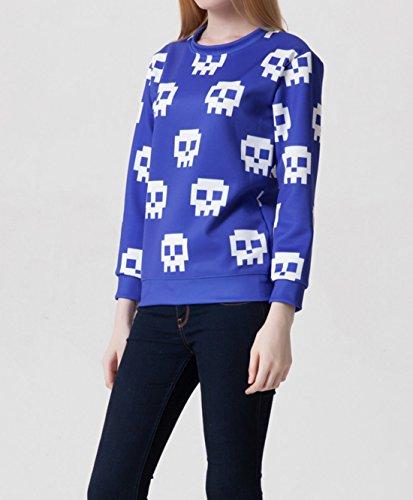 YICHUN mujeres Tops camiseta ocio delgado Sudaderas impresión Pullovers Jersey Casual blusa jerséis Emoji 12#