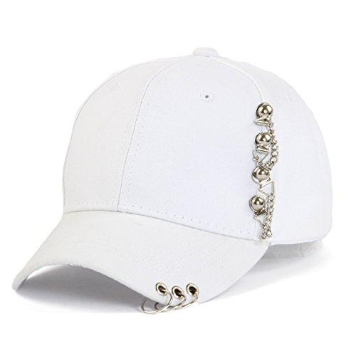 Cap Anchor Chain White (Globalwells Fashion Baseball Cap with Chain Anchor Sun Outdoor Sport Snapback Duckbill Hat)