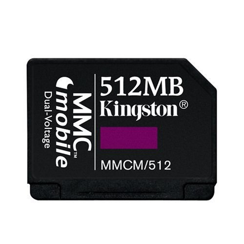 Kingston Flash Memory Card - 512 MB - MMCmobile (MMCM/512) (512 Mb Mmc Multimedia)