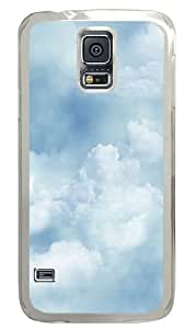 Clouds Texture Custom Samsung Galaxy S5 Case Back Cover, Snap-on Shell Case Polycarbonate PC Plastic Hard Case Transparent