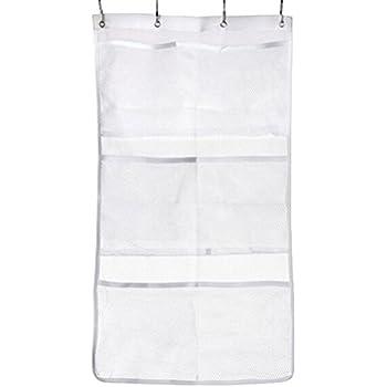 Pengxiaomei Hanging Mesh Shower Organizer, Shower Hanging Mesh Organizer  Bathroom Accessories Quick Dry Hanging Bath Organiztion