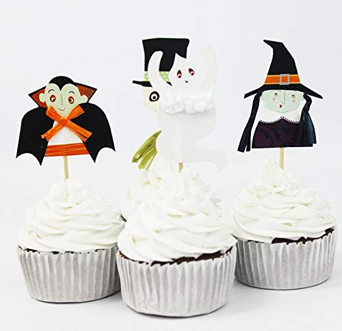 Encore Buy Halloween 24 PC Cupcake Toppers - Birthday Party, Party Decorations, Kids -