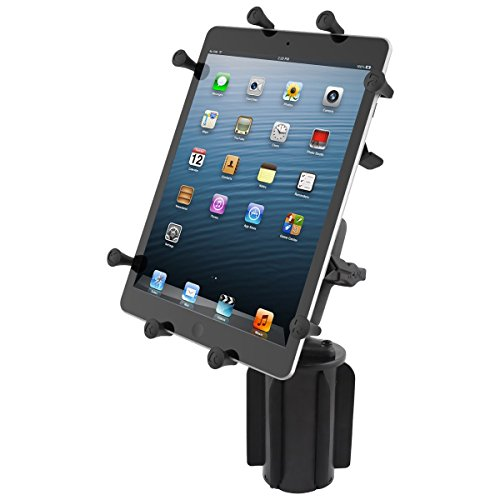Iii Holder - RAM MOUNTS (RAP-299-3-UN9U Ram-A-Can Ii Universal Cup Holder Mount with Double Socket Arm and Universal X-Grip Iii Holder for Large Tablets