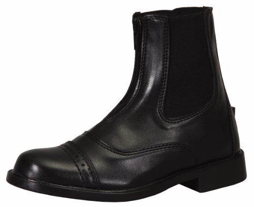 TuffRider Women's Starter Front Zip Paddock Boots, Black, 8