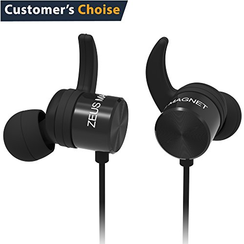 Wireless Earbuds (IMPROVED 2017) Zeus Magnetic Earbuds – In Ear Headphones  Cordless - Womens Mens Sport Earbuds with Microphones – Running Earbuds -  Workout ... e65be16439