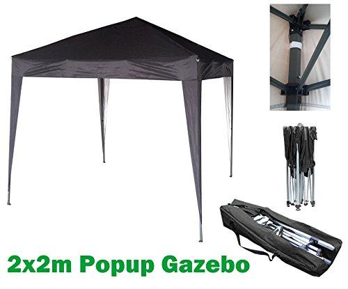 NS Mcc/® Gazebo Impermeabile 2x2M Gazebo Pieghevole Tendone a Baldacchino per Giardino Colore Nero