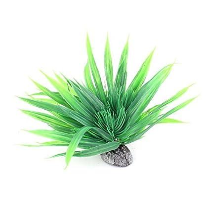eDealMax Planta de agua plástico pecera emulational decoración hierba Verde Flor