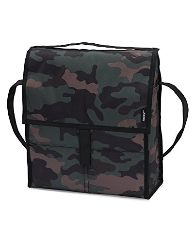 Pkt Flap - PackIt Freezable Picnic Bag with Zip Closure, Camo