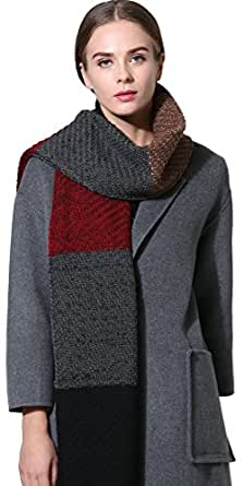Women Men Winter Thick Cable Knit Wrap Chunky Warm Scarf All Colors Cont Black R