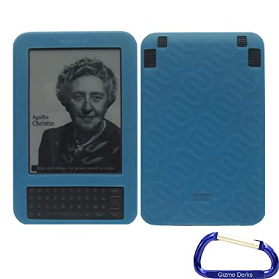 Gizmo Dorks Soft Silicone Skin Case (Blue) for the Amazon Kindle Keyboard by Gizmo Dorks