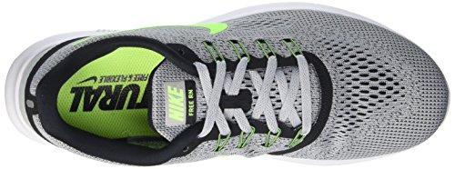 Nike Mens Free Rn Pure Platinum/Elctrc Grn/Anthracite Running Shoe 8 Men US by Nike (Image #7)