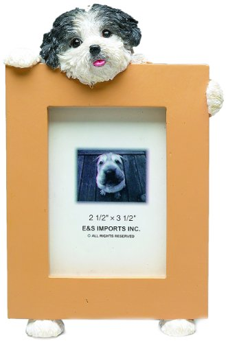 Shih Tzu Puppycut Black/White Dog - 2 1/2