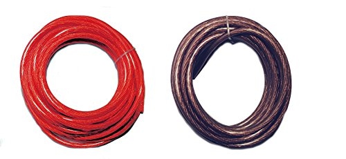 IMC AUDIO 20 Ft - 8 Gauge Power Wire 10 Feet Red 10 Feet Black GA Guage Ground AWG ()