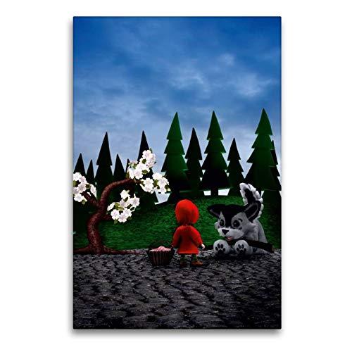 CALVENDO Spass Toile en Textile de qualité supérieure 60 x 90 cm Motif Peignoirs Rouges