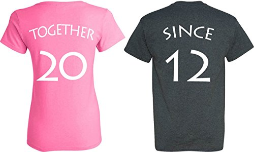 YOUR-DATE-2012-or-else-Together-Since-Matching-Couple-Anniversary-Shirts-PERSONALIZED