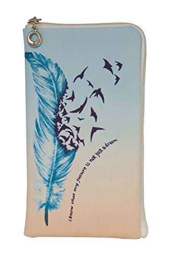 """Elegantes Reissverschluss Handytasche Softcase """"My Future"""" geeignet für """"Apple Iphone 6s"""" Handy Schutz Hülle Slim Case Cover Etui Tasche"""