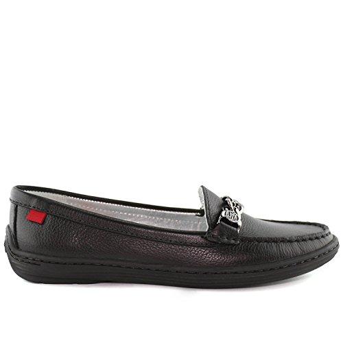 Vera Pelle Da Donna Made In Brasile Atlantico Mocassino Marc Joseph Ny Fashion Shoes Nero Granuloso