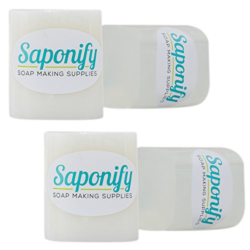 Saponify 4LB Clear Melt and Pour Soap Base - Make Your Own Gentle Glycerine Soaps with Our Professional Grade Base