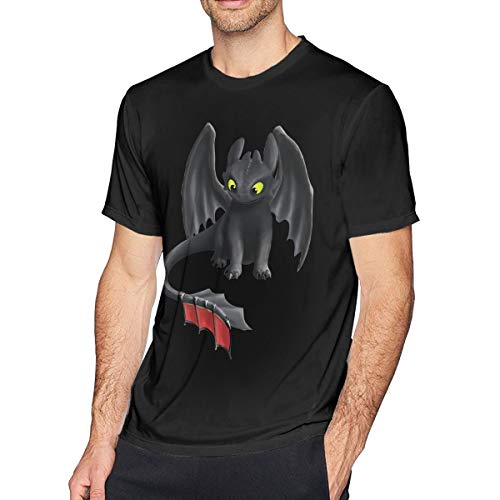 Hodenr Mens Classic How to Train Your Dragon Tees S Black