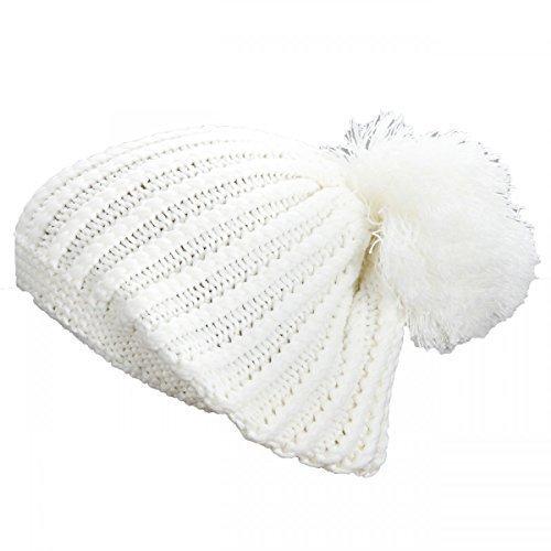 Premium Bommelmütze Wintermütze Long Beanie Strickmütze Mütze Skimütze