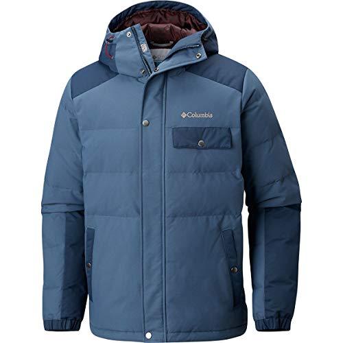 Columbia Men's Standard Winter Challenger Hooded Jacket, Dark Mountain/Collegiate Navy, XX-Large