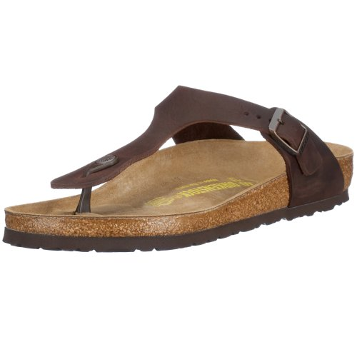 Birkenstock Gizeh Natural Leather, Style-No. 743831, Unisex Thong Sandals, Habana, 2.5 UK (35 EU), Normal Width