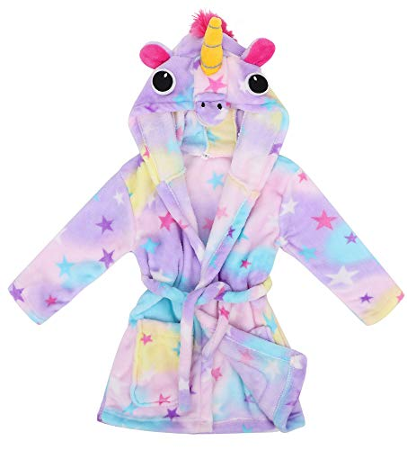 Children Bathrobe Soft Hooded Fleece Robe,Star Pegasus,S(1-3 Years) ()