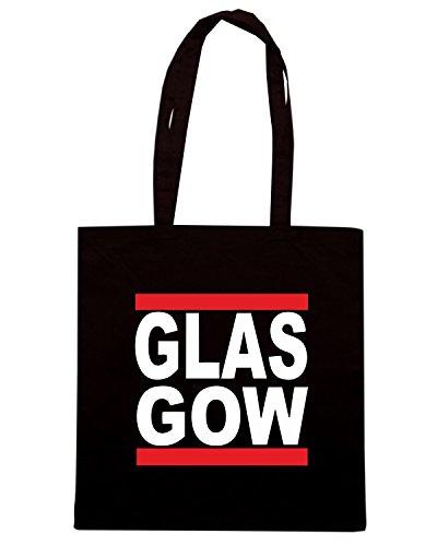 T-Shirtshock - Bolsa para la compra WC0374 Glasgow Negro