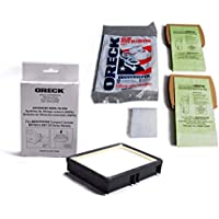 Oreck Hypo-Allegenic Super-Deluxe Compact Canister 12 filter bags Plus 1 motor filter With 1Pk Exhaust Hepa Filter, Fits Oreck BB1000 Series Models