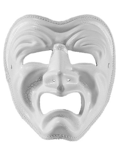 White Drama/Tragedy Mask