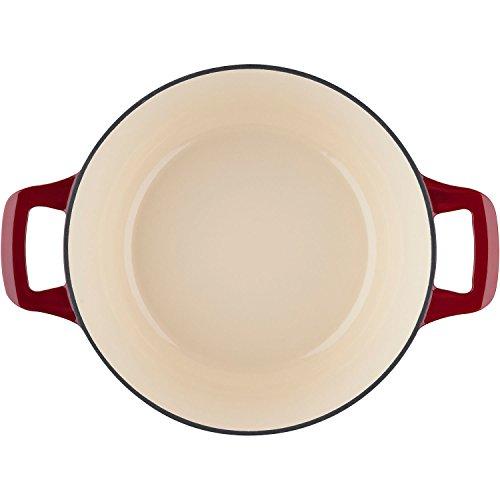 La Cuisine LC 2805 6 Piece Enameled Cast Iron Round Casserole/Trivet Cookware Set, Ruby by La Cuisine (Image #6)