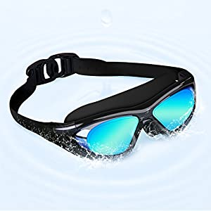 OuterStar Swimming Goggles Anti-Fog Leakless UV Protection Comfortable Large Frame Swim Glasses for Adult
