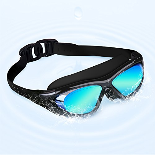 OuterStar Swimming Goggles Anti-Fog Leakless UV Protection Comfortable Large Frame Swim Glasses for Adult - Costumes Direct Australia
