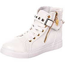 Serene Women's Casual Canvas Lace Up High Top Rivets Wedge Fashion Sneaker