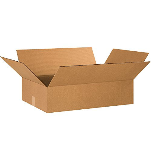 Aviditi 2416640PK Flat Corrugated Boxes, 24'' L x 16'' W x 6'' H, Kraft (Pack of 40) by Aviditi