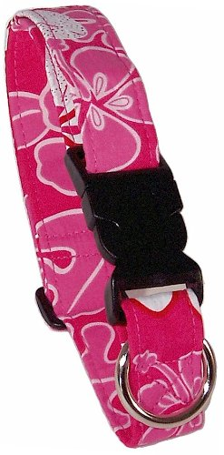Beach Dog Panama Pet Collar, Small, Pink