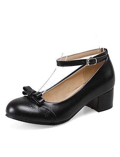 GGX/ Zapatos de mujer-Tacón Robusto-Confort / Puntiagudos-Tacones-Oficina y Trabajo / Casual-PU-Negro / Azul / Rosa / Blanco , pink-us10.5 / eu42 / uk8.5 / cn43 , pink-us10.5 / eu42 / uk8.5 / cn43 pink-us9 / eu40 / uk7 / cn41