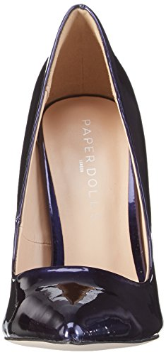Paper Dolls Women's Dulcina Closed Toe Heels Blue (Navy) one42XueM